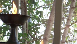 Chalice flame window