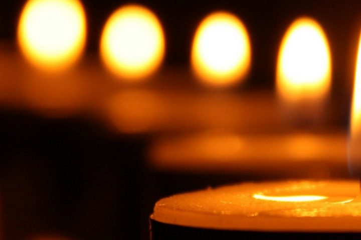 Candles in a row