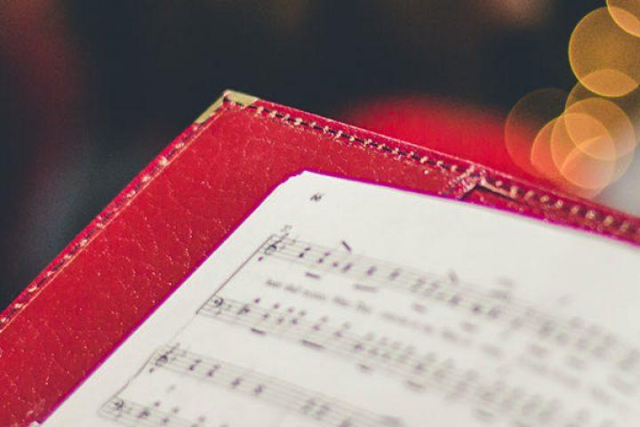 Choir folder with music