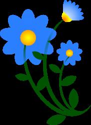 nature-flower-blue-motif